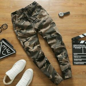 Chic-Men-Skinny-Harem-Pants-100-Cotton-Camouflage-Youth-Spring-Casual-Trousers