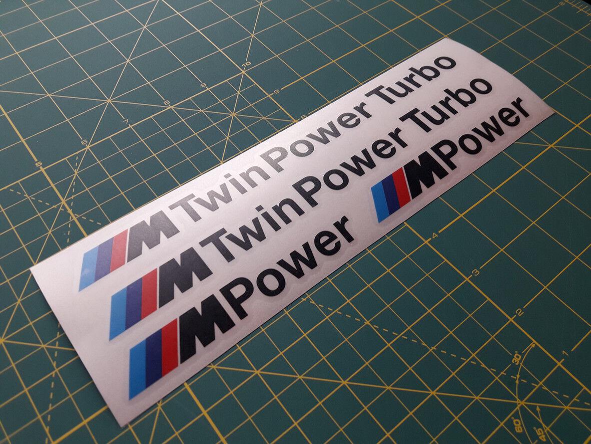 BMW Twin turbo sticker decal aufckleber