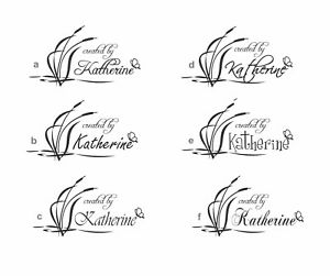 Unmounted-Personalized-039-created-by-lily-039-rubber-stamp-c132