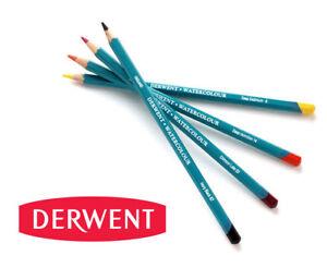 72-Farben-Aquarellstifte-DERWENT-Watercolour-wasservermalbare-Stifte-einzeln