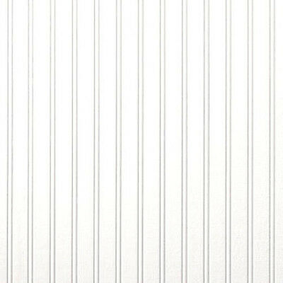 2 ROLL LOT - Brewster Textured Paintable Classic White Beadboard Wallpaper
