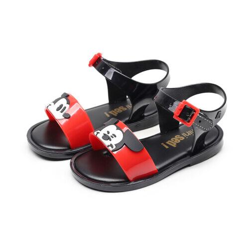 UK Girls Sandals Summer Flat Shoes Toddler Kids Open Toe Soft Comfy Shoes Size