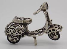 Vintage Plata Maciza VESPA Miniatura-Estampado-Hecho en Italia-Casa De Muñecas