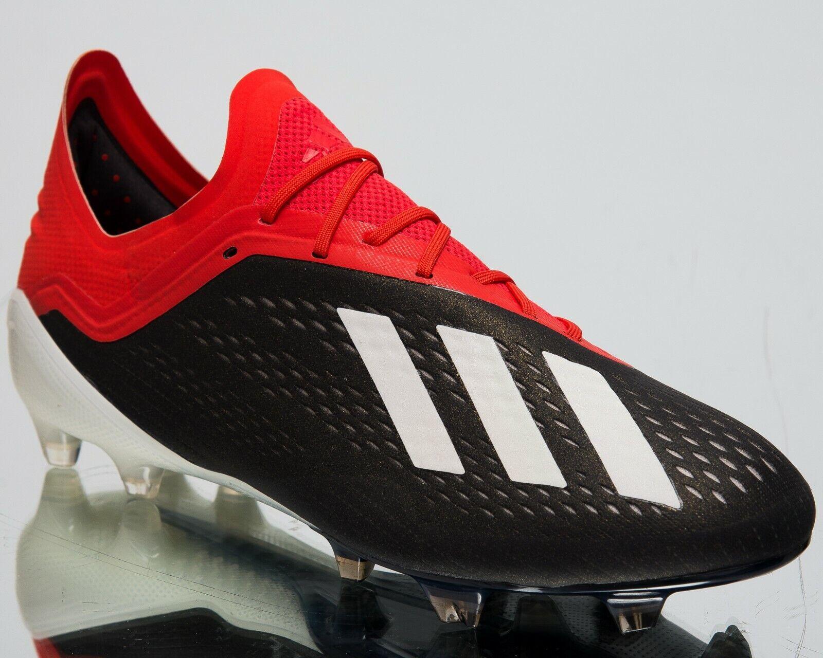 Adidas X 18.1 FG New Mens Soccer shoes Core Black Footwear White Red 195g BB9345