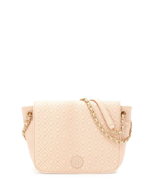 f579ca07aed1 Tory Burch Marion Quilted Small Flap Shoulder Bag Pale Apricot ...