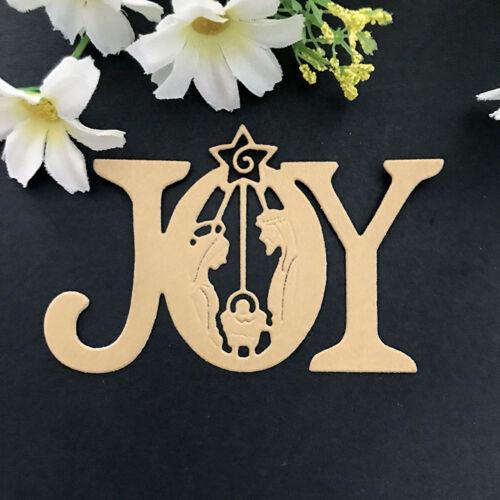 Joy letter Design Metal Cutting Dies For DIY Scrapbooking Card Paper AlbumM Bn