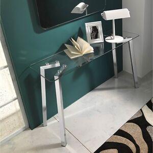 Consolle in vetro kirk per ingresso soggiorno ufficio o for Consolle in vetro