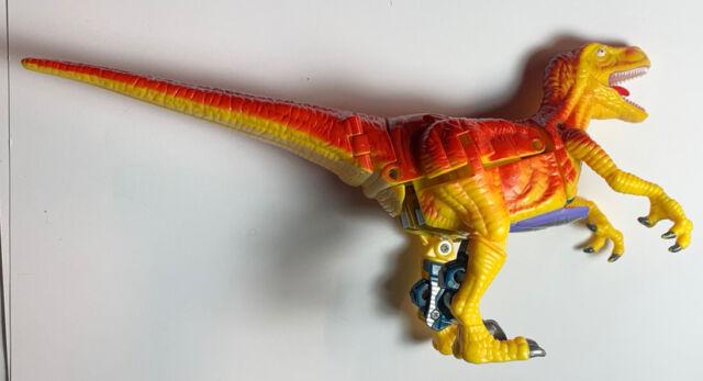 Transformers KO Bootleg Yellow Velociraptor Dinosaur Figure Dino Mech