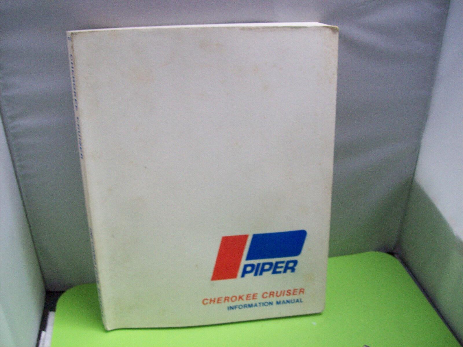 Piper Cherokee CRUISER informazione Manuel #111