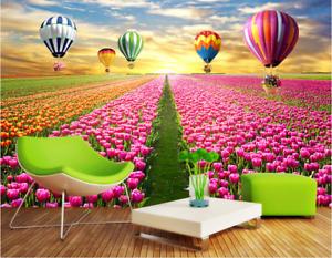 3D Ballon Tulpe Feld 74 Tapete Wandgemälde Tapete Tapeten Bild Familie DE Summer