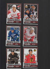 2008 -09 OPC 6 CARD ROOKIE LOT 502 520 536 537 549 560