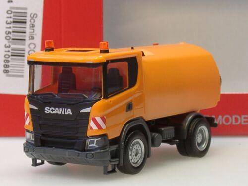 Herpa Scania CG 17 Kehrfahrzeug 310888-1:87 kommunal orange