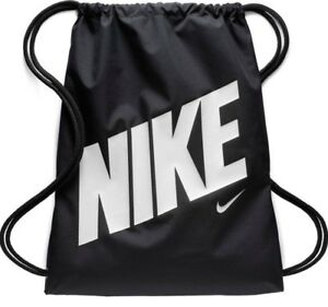 5e36f87863 Nike YA School Gym Sack Gym Sac Kids Shoulder Drawstring Bag- Black ...