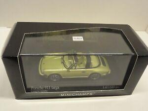 MINICHAMPS-PORSCHE-911-Targa-1977-Metallic-lime-green-430061261-SOLD-OUT