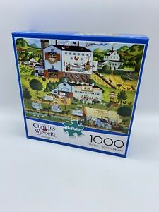 Charles Wysocki Sunny Side Up 1000 Piece Puzzle Buffalo Games Jigsaw Landscape