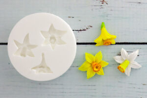 Silicone mould small daffodils easter spring flowers daffodil image is loading silicone mould small daffodils easter spring flowers daffodil mightylinksfo