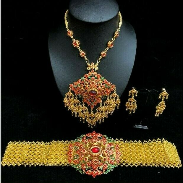 1 x Set of Thai Special Accessories Jewelry Occasional Bride Stage Show Parade