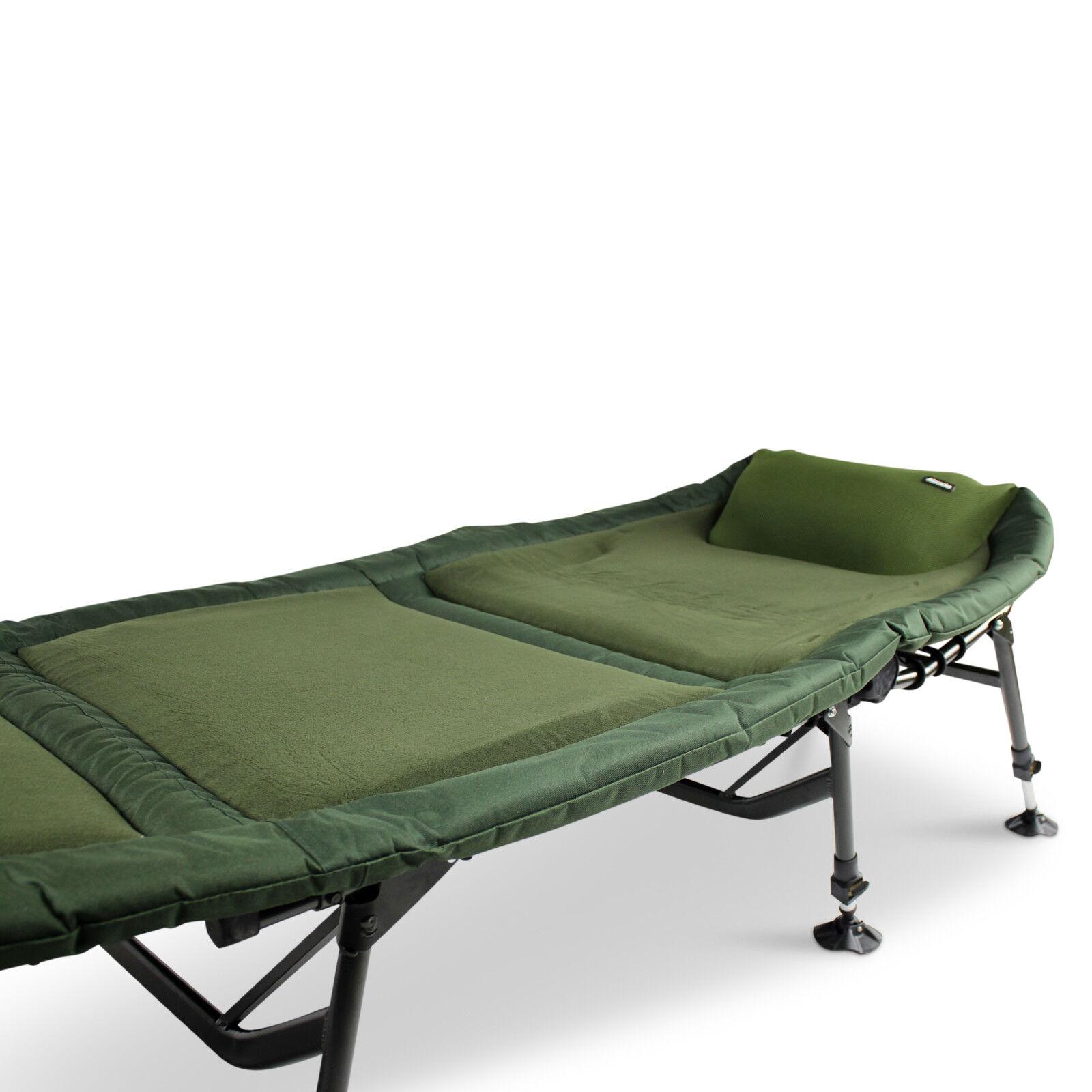 ABODE® Air-Lite™ Alloy 6 Leg Fleece Carp Fishing Camping Aluminum Bedchair