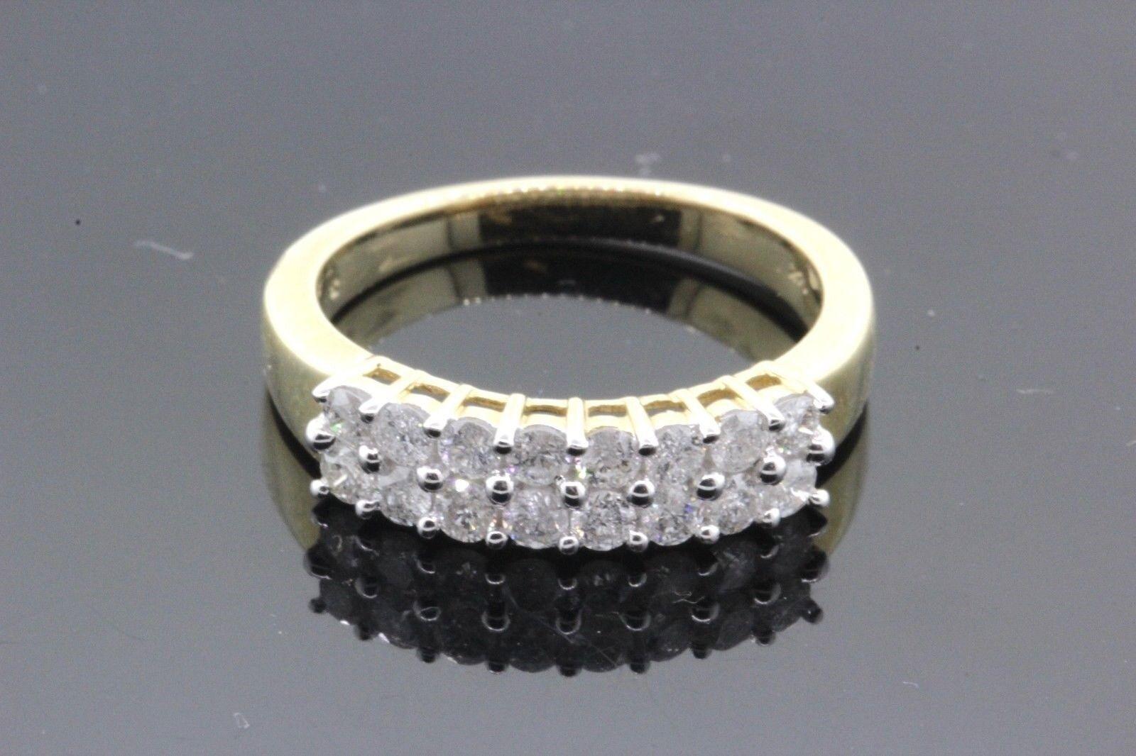 Women's 14k Yellow gold & Diamond Ring 3.7g 0.80 TCW G-J SI1-SI2