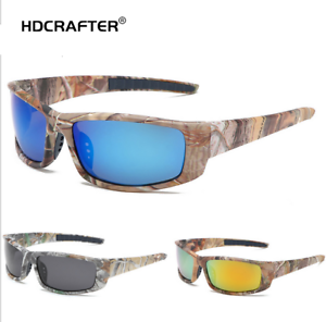 Men Sport Polarized Sunglasses Outdoor Driving Fishing Camouflage Frame Glasses