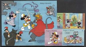 Old mail yvert 1629/32+hb 273 ** mnh walt disney christmas