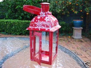 Metal-Tealight-Lantern-Snow-Flake-Candle-Holder-Home-Decor-Garden-Ornament