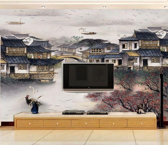 3D bella casa 35 Parete Murale Foto Carta da parati immagine sfondo muro stampa