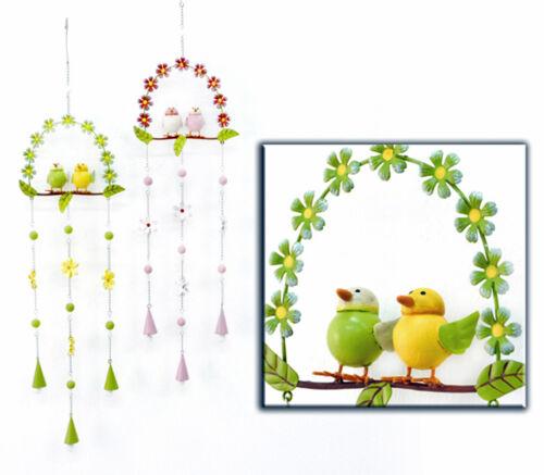 Klangspiel Hänger Vogelhochzeit Metall 923176 Gartendeko Fensterdeko
