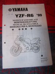 1t - Notice/manuel Montage/assemblage Supplement Yamaha Moto Yzf-r6 1999 T4tc1pdo-08010830-233762326