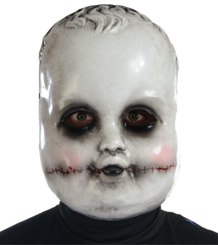Creepy Dead Ghost Doll SMILING SAMMIE FACE MASK Cosplay Horror Costume Accessory