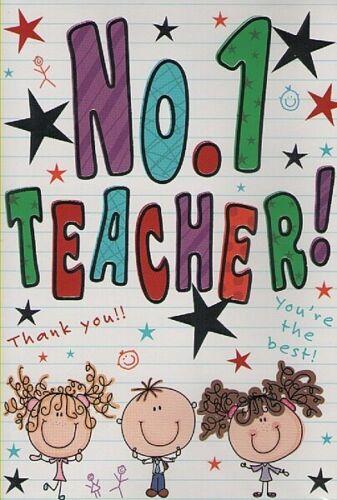 Teacher Merci carte No.1 Professeur!