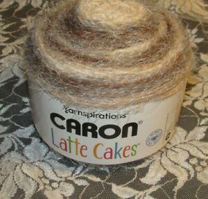 NEW-CARON-LATTE-CAKES-Coconut-Cream-Gray-Yarn-Bulky-250-g-Acrylic-Nylon-22013-K