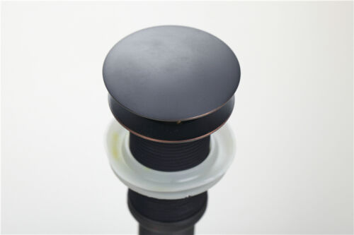 Bathroom Vessel Sink Pop-Up Drain Faucet Oil Rubbed Bronze Without Overflow