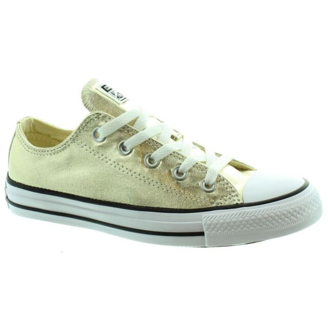 41 EU Light Gold White Black Converse Chuck Taylor All Star Ox Men s ... 15171f12ac6