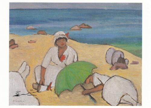 Am Strand 1919 Postkarte Gabriele Münter