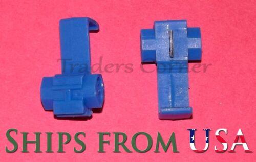 100Pcs Blue Quick Lock//Wire Splice Crimp//Wire Connectors