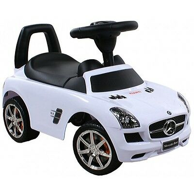 kids ride on mercedes sls baby car walker white bobby car new orginal license ebay. Black Bedroom Furniture Sets. Home Design Ideas