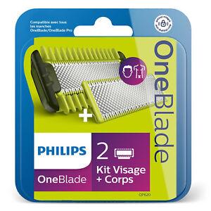 Pack-2-lames-Oneblade-Philips-QP620-50-kit-visage-neuf-livraison-tres-rapide