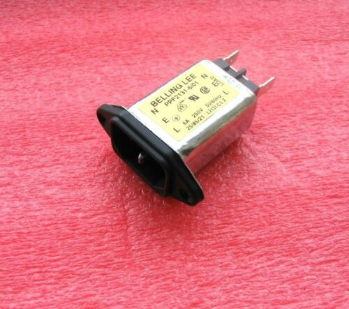 BELLING LEE 6A WITH TRANSIENT PROTECTION 250V IEC RFI//EMC MAINS INPUT FILTER