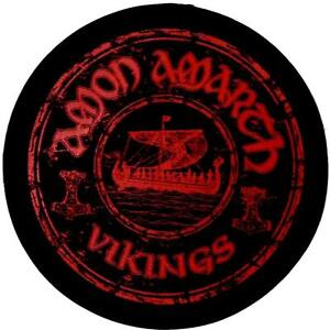OFFICIAL LICENSED - AMON AMARTH - VIKINGS CIRCULAR WOVEN SEW-ON PATCH METAL