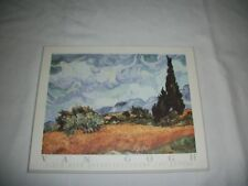 "Van Gogh  "" Field With Cypresses "" 8x10  Wood Plaque Picture"