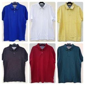 Men-039-s-ex-tienda-Polo-Camisa-Tamano-Grande-8-Colores-Diferentes