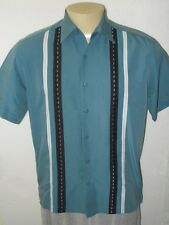ROCKABILLY ATOMIC RETRO SWING HIPSTER LOUNGE BOWLING SHIRT MEN MEDIUM