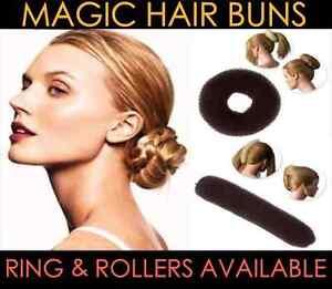 Magic-Hair-Bun-Roller-Ring-Fashion-Sponge-Styling-Donut-Hairdressing-UK-Colour
