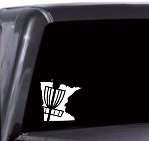 Your State Silhouette Disc Golf Basket Vinyl Decal Car Window