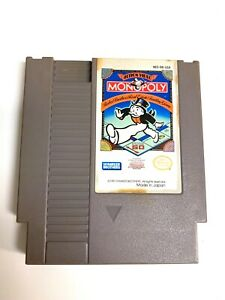 Monopoly-ORIGINAL-NINTENDO-NES-Game-Tested-WORKING-amp-AUTHENTIC