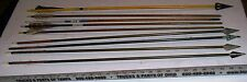 Lot of  Nine (9) Vintage Wooden & Metal Hunting Arrows for Archery, CHEAP