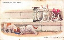 B71544 Cats Dogs Chat Chiens illustration Mechle grosmann