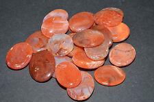 "1 Carnelian Worry Stone Avg. Size 1.27"" Relaxant Reflexology Metaphysical WS91"