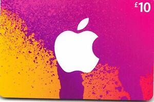 Itunes Gift Card Uk 10 Gbp Apple App Store Code 10 Pound Uk British English Ebay